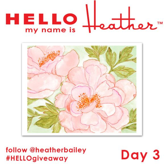 Win a print on Heather's blog